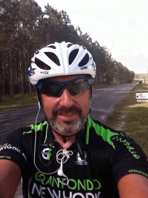 picture of Dr. Villalobos bicycling