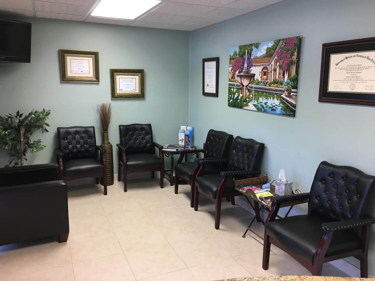 picture of the waiting room of our dental office